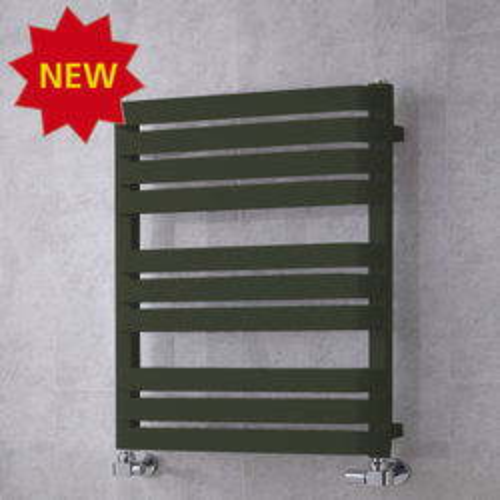 COLOUR Heated Towel Rail & Wall Brackets 785x500 (Signal Black).