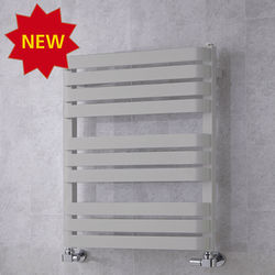 COLOUR Heated Towel Rail & Wall Brackets 785x500 (White Aluminium).