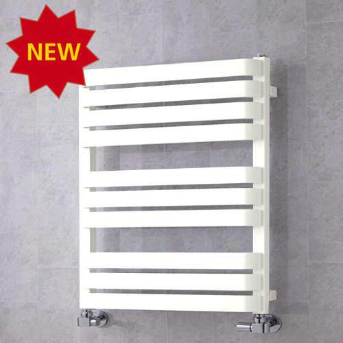 COLOUR Heated Towel Rail & Wall Brackets 785x500 (Pure White).