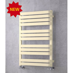 COLOUR Heated Towel Rail & Wall Brackets 915x500 (Oyster White).