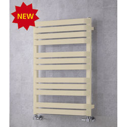 COLOUR Heated Towel Rail & Wall Brackets 915x500 (Light Ivory).