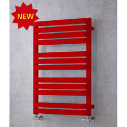 COLOUR Heated Towel Rail & Wall Brackets 915x500 (Flame Red).