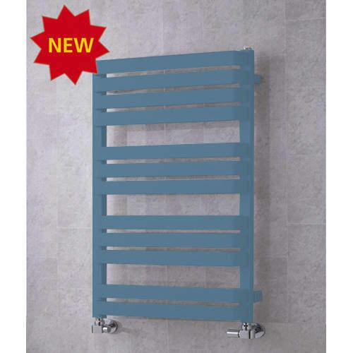 COLOUR Heated Towel Rail & Wall Brackets 915x500 (Pastel Blue).