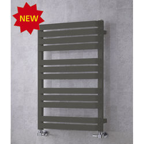 COLOUR Heated Towel Rail & Wall Brackets 915x500 (Grey Olive).