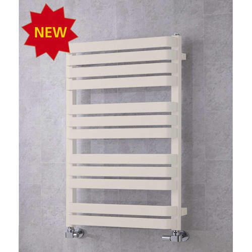 COLOUR Heated Towel Rail & Wall Brackets 915x500 (Cream).