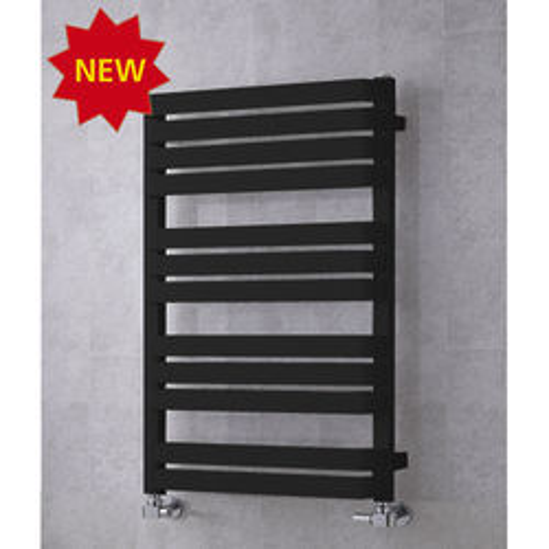 COLOUR Heated Towel Rail & Wall Brackets 915x500 (Jet Black).