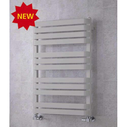 COLOUR Heated Towel Rail & Wall Brackets 915x500 (White Aluminium).