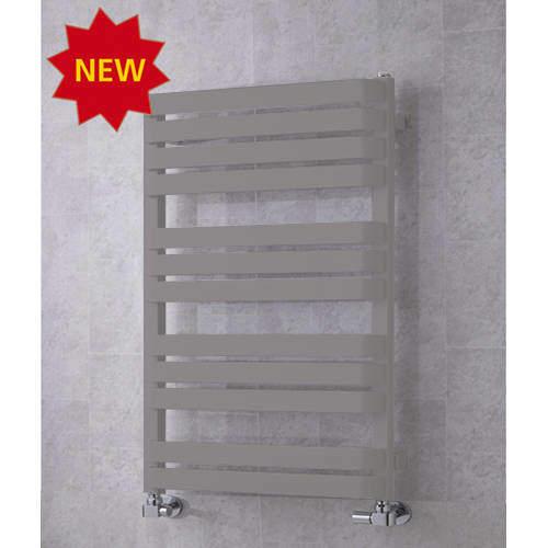 COLOUR Heated Towel Rail & Wall Brackets 915x500 (Grey Aluminium).