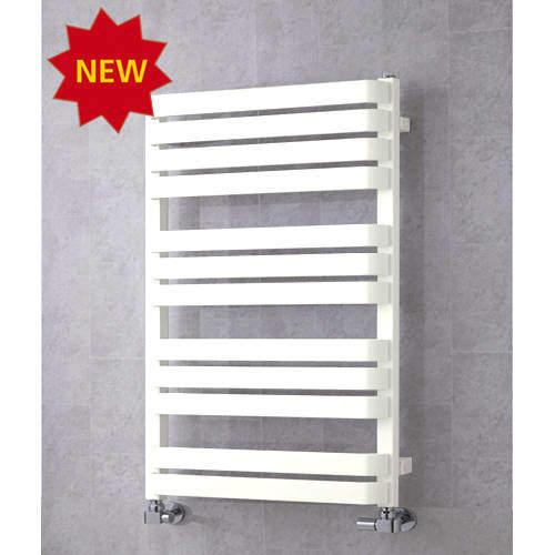 COLOUR Heated Towel Rail & Wall Brackets 915x500 (Pure White).