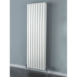 COLOUR Tallis Double Vertical Radiator 1820x300mm (White).