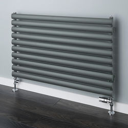 COLOUR Tallis Horizontal Radiator 420x1520mm (Traffic Grey A, 2446 BTUs).