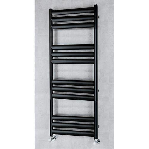 COLOUR Heated Ladder Rail & Wall Brackets 1060x500 (Black).