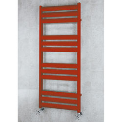 COLOUR Heated Ladder Rail & Wall Brackets 1060x500 (Flame Red).
