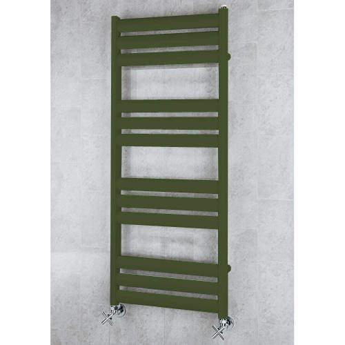 COLOUR Heated Ladder Rail & Wall Brackets 1060x500 (Grey Olive).