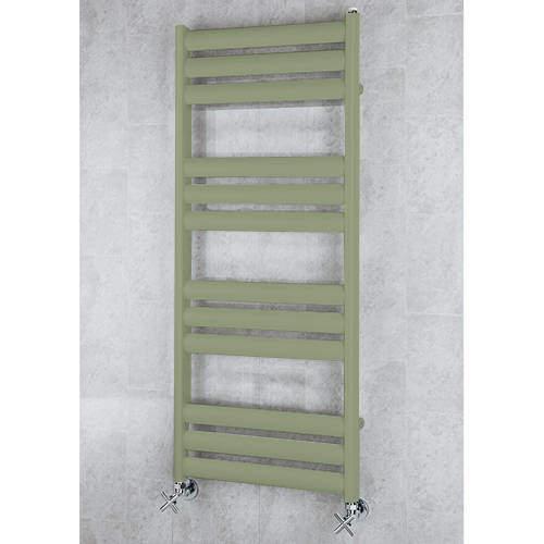 COLOUR Heated Ladder Rail & Wall Brackets 1060x500 (Reed Green).
