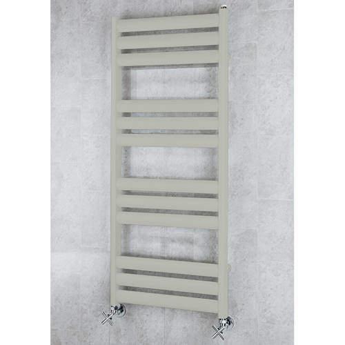 COLOUR Heated Ladder Rail & Wall Brackets 1060x500 (Silk Grey).