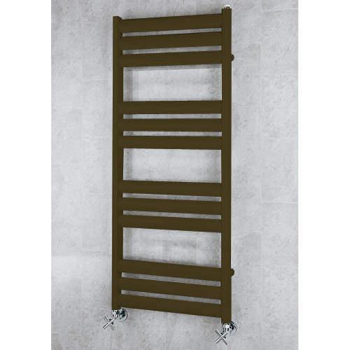 COLOUR Heated Ladder Rail & Wall Brackets 1060x500 (Nut Brown).