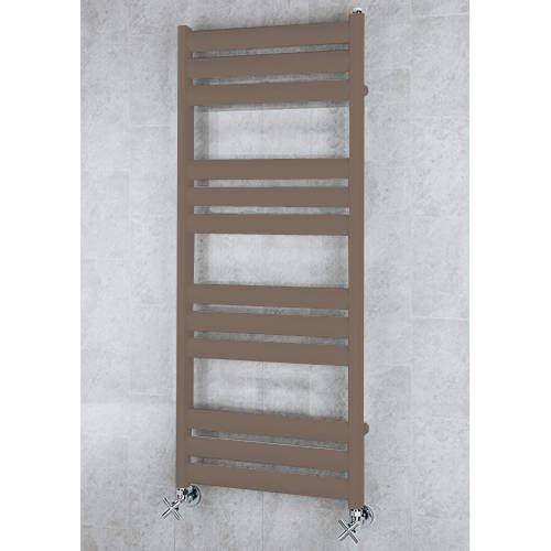 COLOUR Heated Ladder Rail & Wall Brackets 1060x500 (Pale Brown).