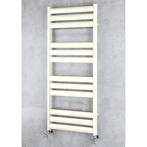 COLOUR Heated Ladder Rail & Wall Brackets 1060x500 (Cream).