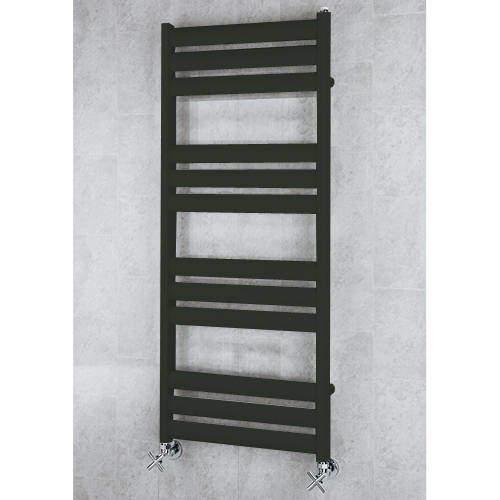 COLOUR Heated Ladder Rail & Wall Brackets 1060x500 (Signal Black).