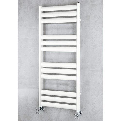 COLOUR Heated Ladder Rail & Wall Brackets 1060x500 (Pure White).