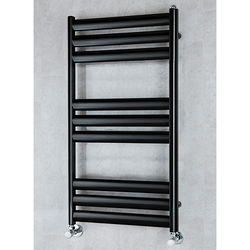 COLOUR Heated Ladder Rail & Wall Brackets 780x500 (Black).