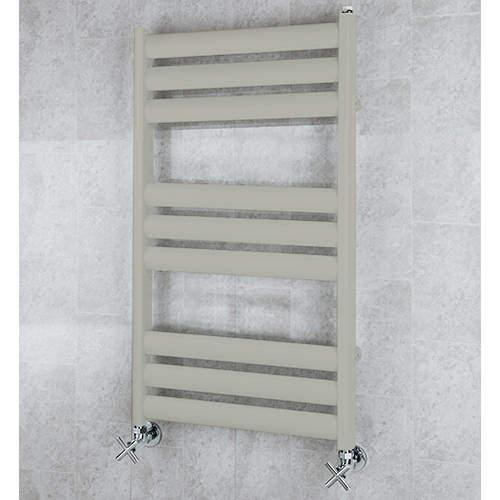 COLOUR Heated Ladder Rail & Wall Brackets 780x500 (Pebble Grey).
