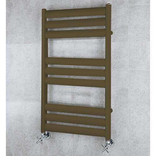 COLOUR Heated Ladder Rail & Wall Brackets 780x500 (Nut Brown).