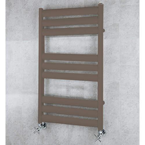 COLOUR Heated Ladder Rail & Wall Brackets 780x500 (Pale Brown).