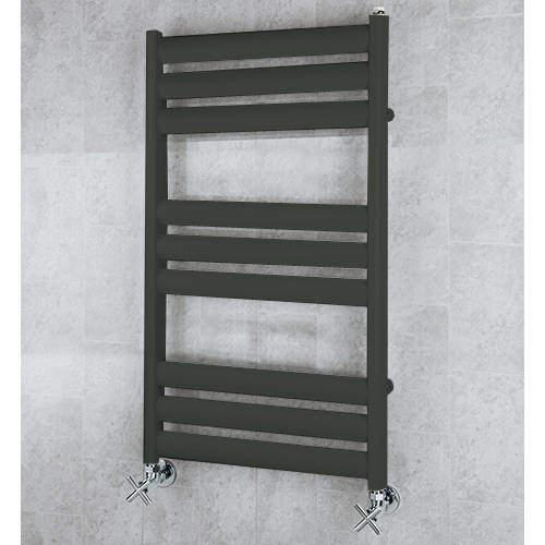 COLOUR Heated Ladder Rail & Wall Brackets 780x500 (Signal Black).