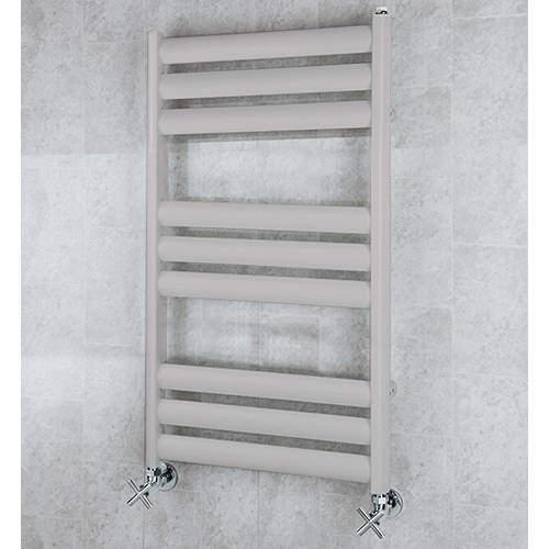 COLOUR Heated Ladder Rail & Wall Brackets 780x500 (White Aluminium).