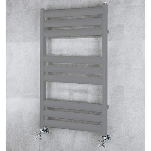 COLOUR Heated Ladder Rail & Wall Brackets 780x500 (Grey Aluminium).