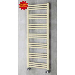 COLOUR Heated Ladder Rail & Wall Brackets 1374x500 (Light Ivory).