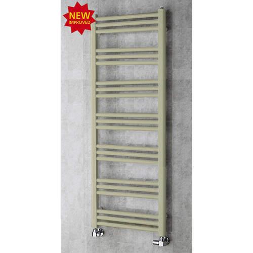 COLOUR Heated Ladder Rail & Wall Brackets 1374x500 (Pebble Grey).