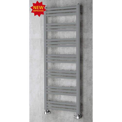 COLOUR Heated Ladder Rail & Wall Brackets 1374x500 (Window Grey).