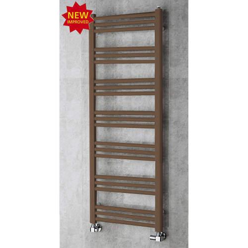 COLOUR Heated Ladder Rail & Wall Brackets 1374x500 (Pale Brown).