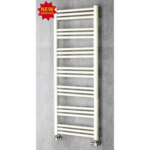 COLOUR Heated Ladder Rail & Wall Brackets 1374x500 (Cream).
