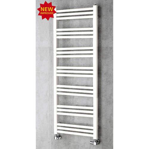 COLOUR Heated Ladder Rail & Wall Brackets 1374x500 (Pure White).
