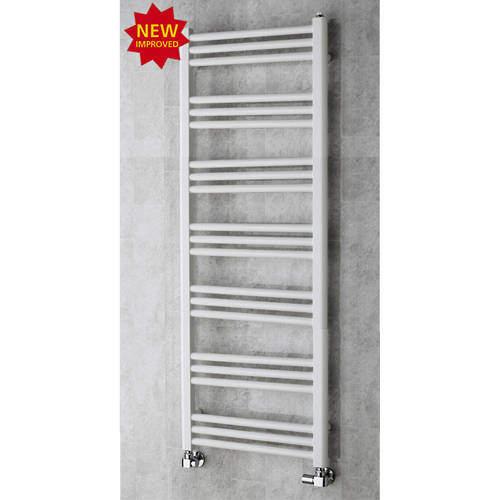 COLOUR Heated Ladder Rail & Wall Brackets 1374x500 (White).