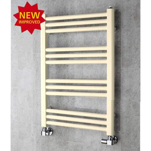 COLOUR Heated Ladder Rail & Wall Brackets 759x500 (Oyster White).