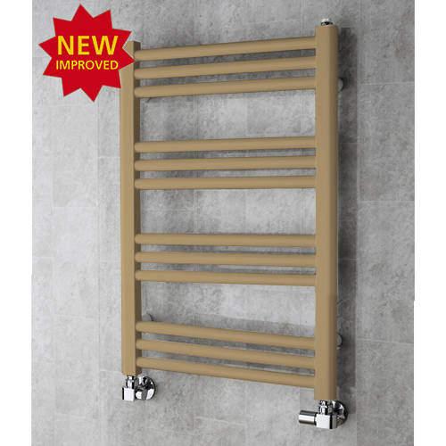 COLOUR Heated Ladder Rail & Wall Brackets 759x500 (Grey Beige).