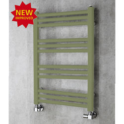COLOUR Heated Ladder Rail & Wall Brackets 759x500 (Reed Green).