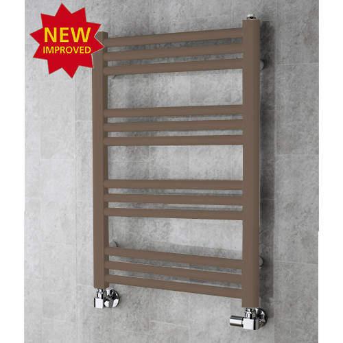 COLOUR Heated Ladder Rail & Wall Brackets 759x500 (Pale Brown).