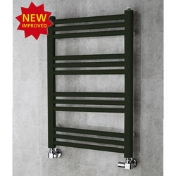 COLOUR Heated Ladder Rail & Wall Brackets 759x500 (Signal Black).