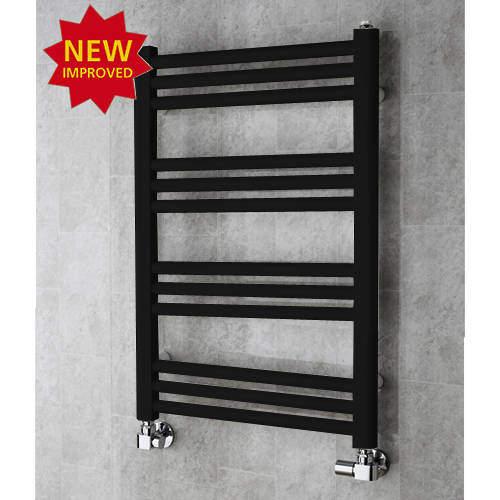 COLOUR Heated Ladder Rail & Wall Brackets 759x500 (Jet Black).