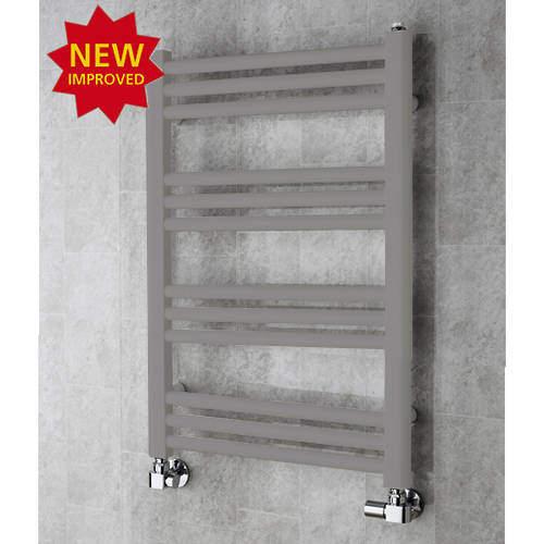 COLOUR Heated Ladder Rail & Wall Brackets 759x500 (Grey Aluminium).