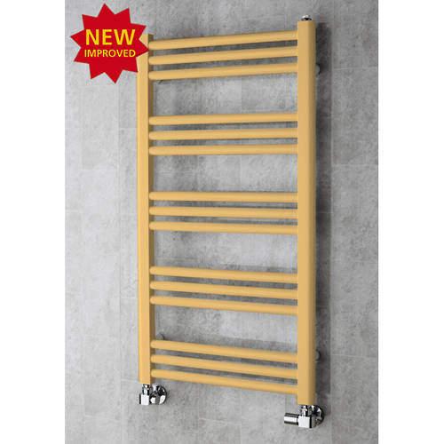 COLOUR Heated Ladder Rail & Wall Brackets 964x500 (Beige).