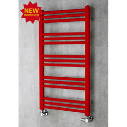 COLOUR Heated Ladder Rail & Wall Brackets 964x500 (Flame Red).