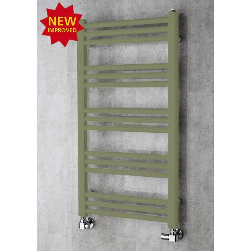 COLOUR Heated Ladder Rail & Wall Brackets 964x500 (Reed Green).
