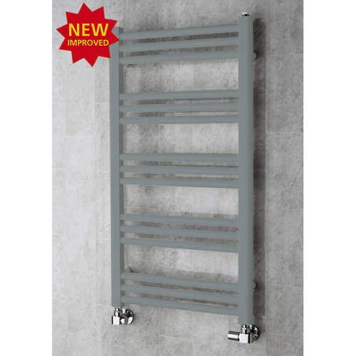 COLOUR Heated Ladder Rail & Wall Brackets 964x500 (Window Grey).